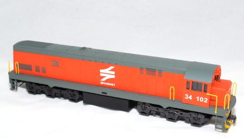 Class 34 Spoornet Orange diesel # 34 102- HO (Powered)