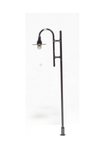 Antique, black - HO scale LED lamppost (12v)