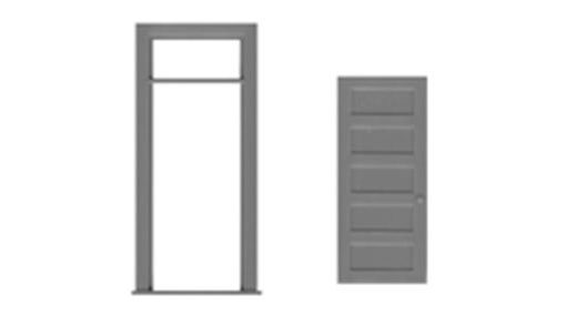 5 Panel door and frame & transom (3 sets) - HO - Dream Trains ...