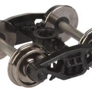 "Rigid Trucks w/33"" Metal Wheels & Axles (2 pcs) - HO"