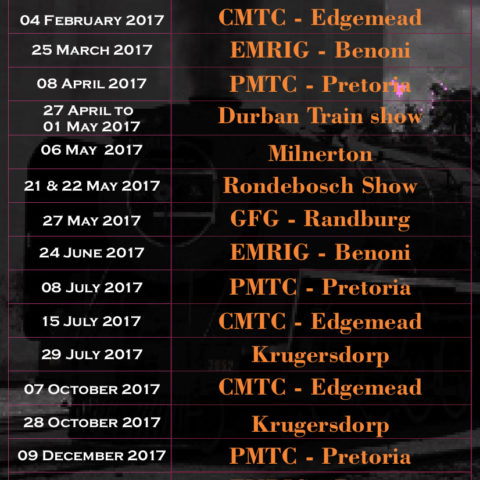 Swapmeet dates 2017