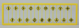 #2617 Road Path/Curve Warning Signs #2 (18 pcs) - N