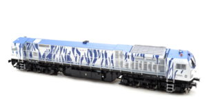 BT2 Bombardier Blue Tiger Diesel Locomotive Poollok - HO