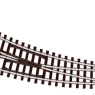 ST-44 Code 80 Curved Turnout R/H (Insulfrog) - N scale