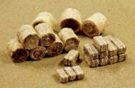 Brown Hay Bales (35 pcs) - HO