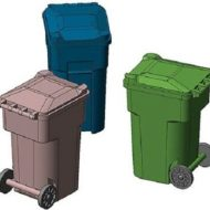 96-Gallon Wheeled Trash & Recycling Bin (6 pcs) - HO