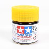X-24 Clear Yellow Acrylic Paint (Gloss) 23ml - Tamiya