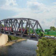 Single-Track Arched Pratt Truss Bridge - N