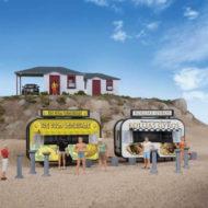 Gyro and Lemonade Food Trailers (2 pcs) - HO