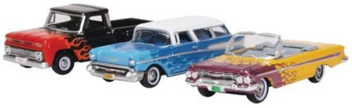 Chevy Hot Rod set (3 pcs) - HO