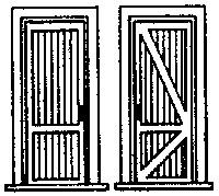 Door with Frame & 2 Tounge-And-Groove Panels (3 pcs) - HO