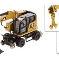 Cat M323F Railroad Wheeled Excavator (CAT Yellow) - HO