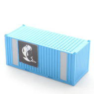 Rural 20' Container Salon (Blue) - HO