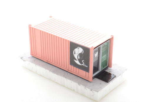 Rural 20' Container Salon (Pink) - HO